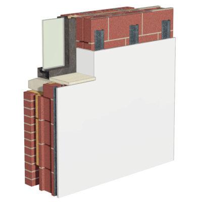 Cemrock Lite - Placare interioara perete caramida